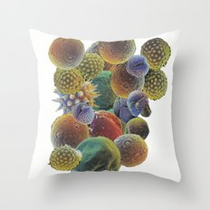 Micro-pollen Throw Pillow