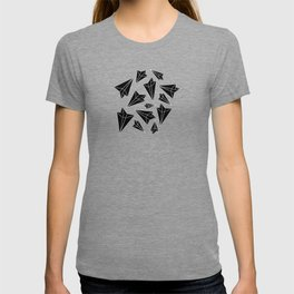 Paper Airplanes Black T-shirt