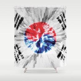 Extruded flag of South Korea Shower Curtain