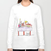 thanksgiving Long Sleeve T-shirts featuring Thanksgiving Feast by Ryan van Gogh
