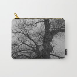 Nature Photography Weeping Willow | Lungs of the Earth | Black and White Carry-All Pouch