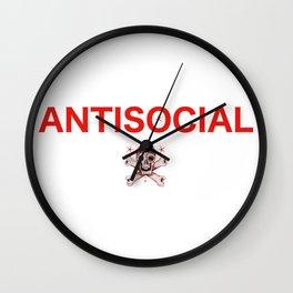 ANTISOCIAL Wall Clock