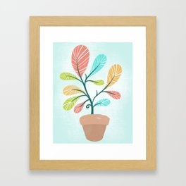 Potted Plant Framed Art Print