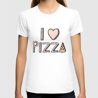 nutella T-shirts featuring I Love Pizza by Tangerine-Tane