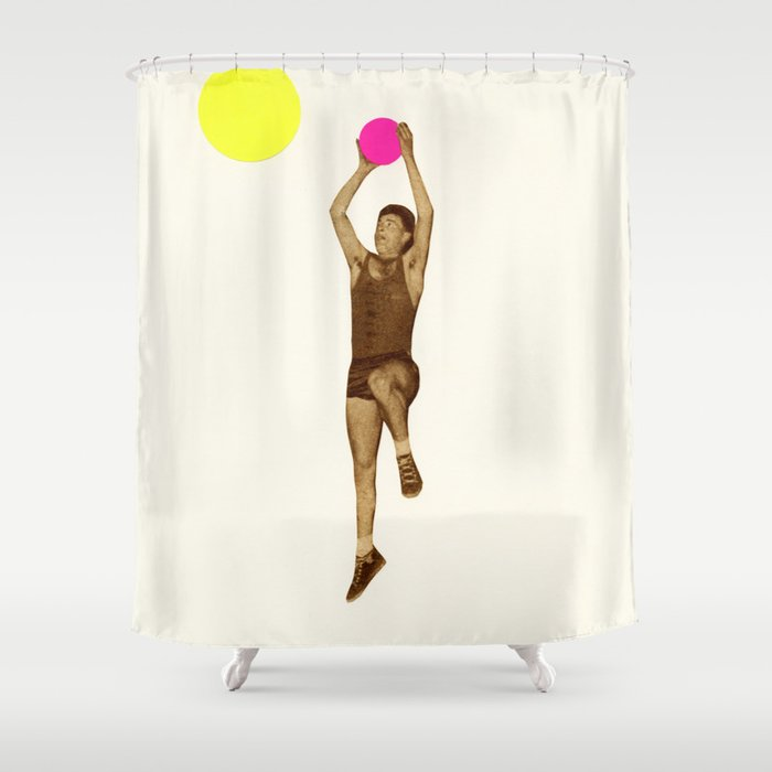 Basketball Shower Curtain By Cassiabeck