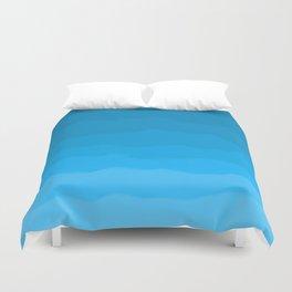 Happy Blue Ocean Waves Ombre Duvet Cover