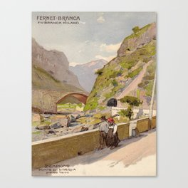 Vintage poster - Fernet-Branca Canvas Print