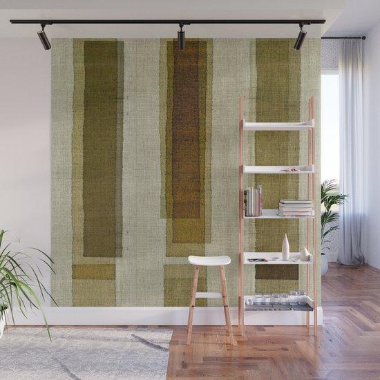 """Burlap Texture Greenery Columns"" by marcanton"