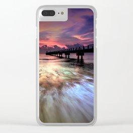 Beach Pier Clear iPhone Case