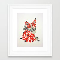 corgi Framed Art Prints featuring Corgi. by ruffgaws