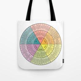 Feelings Wheel - Bright Tote Bag