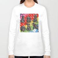 rottweiler Long Sleeve T-shirts featuring Chibi dog breeds - Rottweiler by Furiarossa