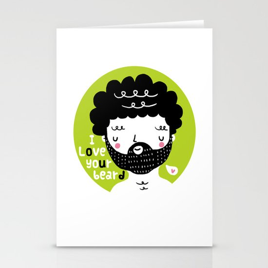 I Love your Beard Stationery Cards