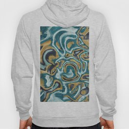 Abstract painting on metal texture Hoody