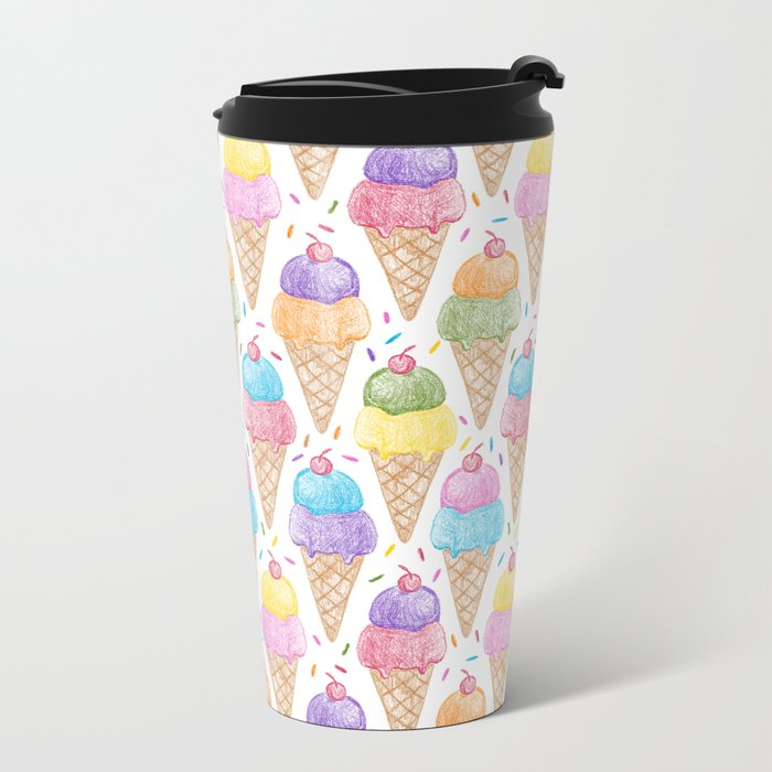 Crayon - IceCream Metal Travel Mug