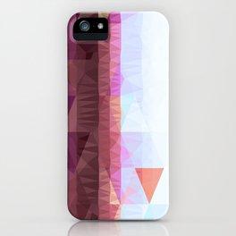 Lavender Purple Abstract Geometric Triangle Polyglen Wallart Illustration iPhone Case