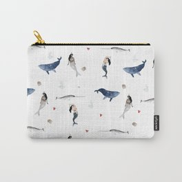 Mermaid watercolor Pattern Carry-All Pouch