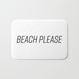 Beach Please! (Black) Bath Mat