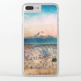 Desert Mountain Adventure - Nature Photography Clear iPhone Case