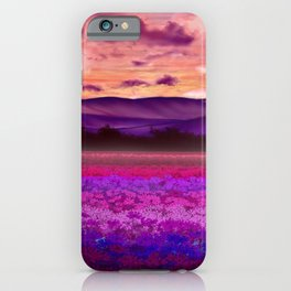 Floral Field View iPhone Case