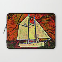 Red Dawn Sailboat  Laptop Sleeve