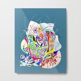 Filanes-45 couleur fond bleu large Metal Print