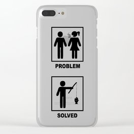 Fishing's problem solved Clear iPhone Case