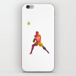 Volley ball player man 04 in watercolor iPhone Skin