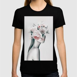 WOMAN WITH FLOWERS 11 T-shirt