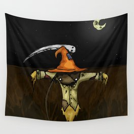 Scarecrow Tattoo Wall Tapestry