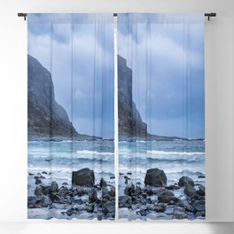 Costal scenery a rainy day Blackout Curtain