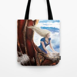 Flying with Drogon Tote Bag