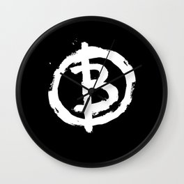 Bitcoin Anarchist Wall Clock