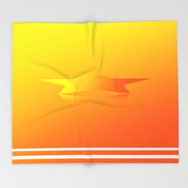 Star Flight Space Carrier - Red Orange Yellow Throw Blanket