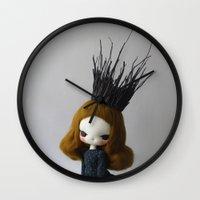 lana Wall Clocks featuring Lana by Evangelione
