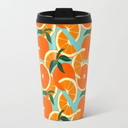 Orange Harvest - Blue Travel Mug
