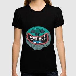 Happy Inside (Blue Man) T-shirt