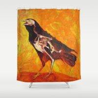 transparent Shower Curtains featuring Transparent Raven by Lennon Michalski