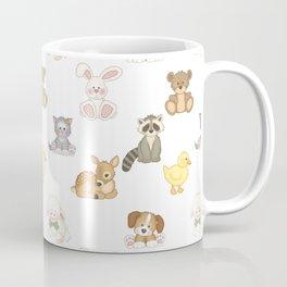 Cute Woodland Farm Baby Animals Nursery Coffee Mug