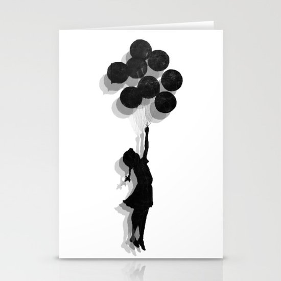 Banksy Fly Away  Stationery Cards