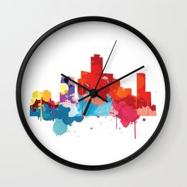 Seoul Cityscape Watercolor Wall Clock