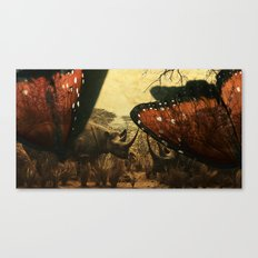 Diorama :: Rhinos Canvas Print