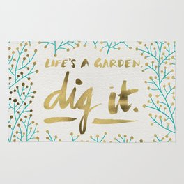 Dig It – Gold & Turquoise Rug