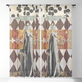 Cosmic Intelligence Sheer Curtain