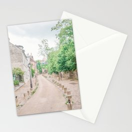 Charming Street in Montmartre, Paris Stationery Cards
