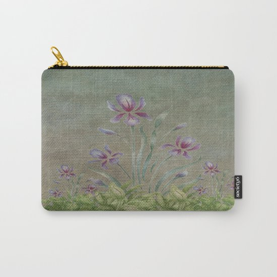 Painterly Spring Flower Garden  Carry-All Pouch