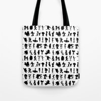cartoons Tote Bags featuring Cartoons by Valerie Agrusa Photography