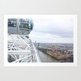 From the London eye Art Print