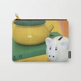 Pig and a Teapot Vintage Still Life Carry-All Pouch