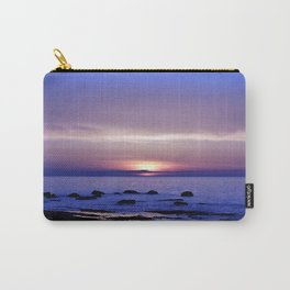 Blue and Purple Sunset on the Sea Carry-All Pouch